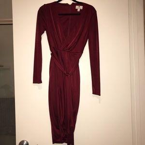 Target x Altuzzura Burgundy Wrap Dress